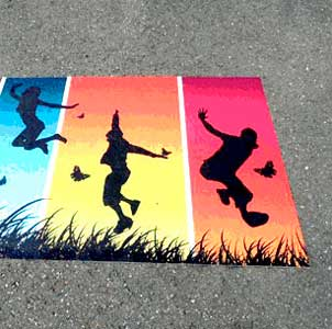 StreetRap - An outdoor floor graphic