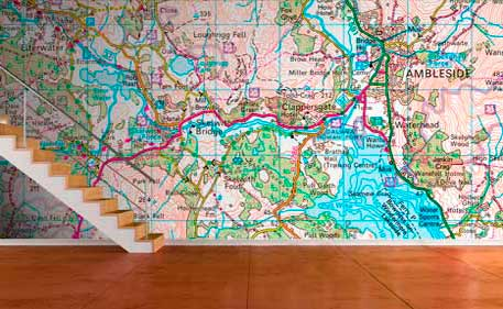Custom printed wallpaper map os 150 000 map gumiabroncs Image collections