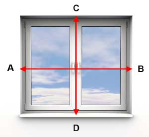 Measuring inside a window recess