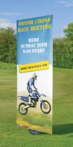 Blizzard Outdoor Single Sided Banner Stand