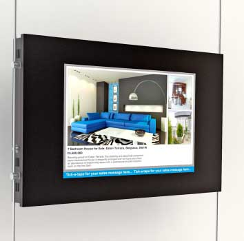 ceiling to floor digital screens