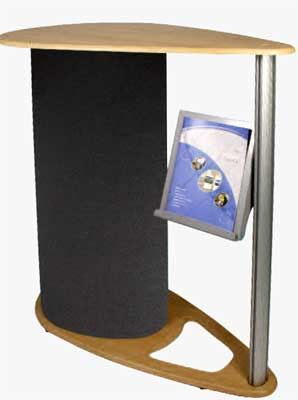 Counter with Literature Holder