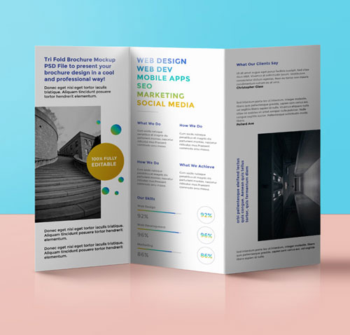 a3 folded leaflet and flyer printing