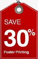 save 30% discount off poster printing